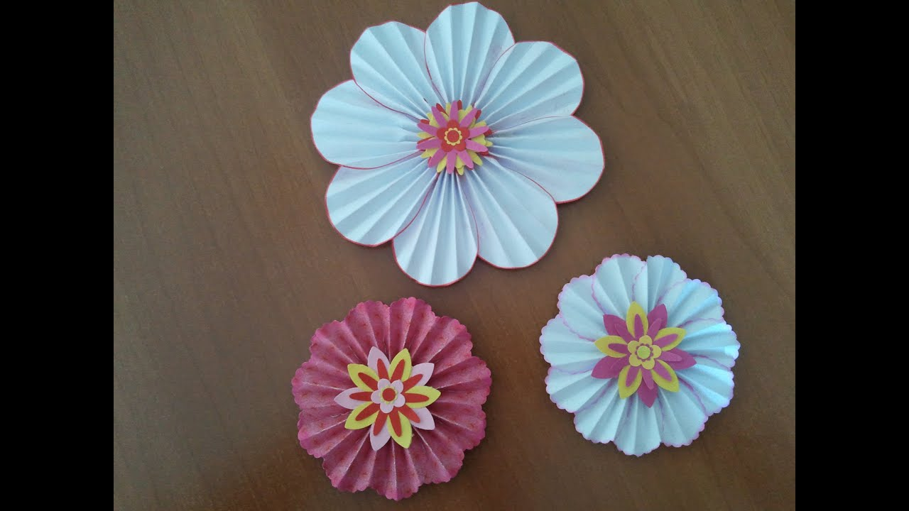 Fiori di carta scrapbooking tutorial paper flowers ornaments youtube mightylinksfo