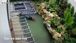 điện giật chết thảm dưới hồ