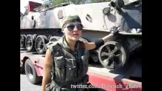 Ополченцы передают привет Порошенко. Уничтоженная военная техника  едет на парад в Донецк