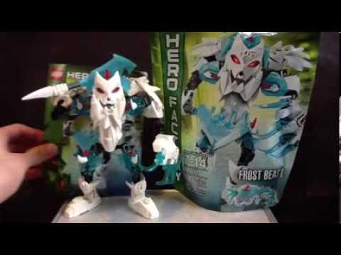 Lego Hero Factory Brain Attack Frost Beast 44011 Youtube