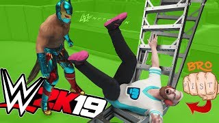 PEWDIEPIE and T SERIES vs SUPER GAMING FAMILY | WWE 2K19 TITLE MATCH
