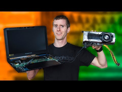 Put a Desktop GPU in a LAPTOP... The CHEAP WAY!