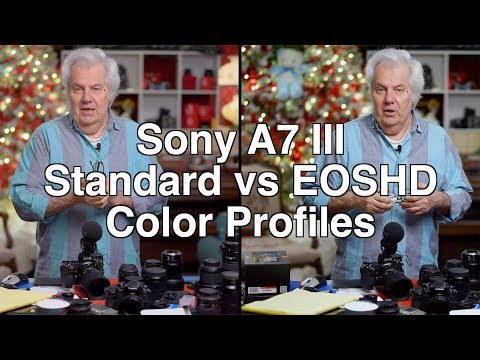 Sony A7 III Profiles - Standard Profile vs EOSHD Profile