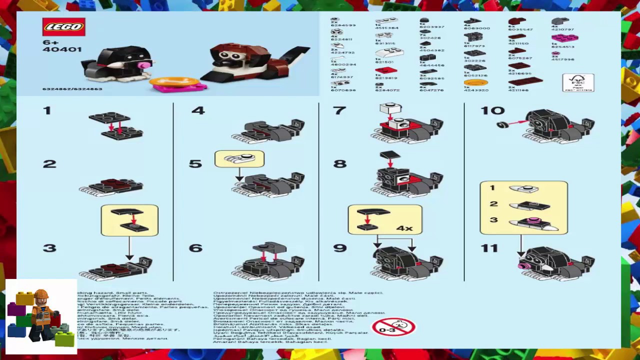 LEGO instructions - Monthly Mini Model Build - 40400 - Dog and Cat Friendship Day (07-2020)