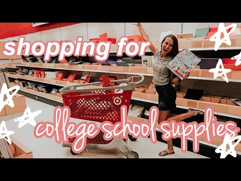 college school supplies shopping 2019!