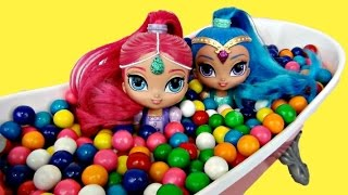 SHIMMER & SHINE Bath Tub Gumball Adventure & Toy Surprises