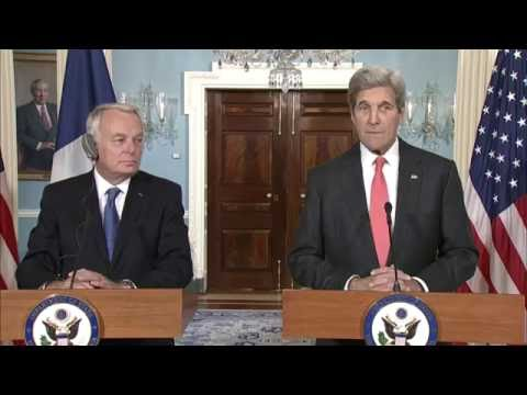 Secretary Kerry Meets French Foreign Minister Ayrault