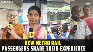 New Metro Rail Passengers Share their Experience