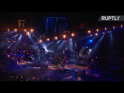 Wheels of fire! Night Wolves show off stunts in Sevastopol show