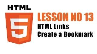 HTML Links - Create a Bookmark - Lesson 13