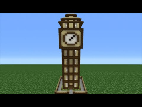 Minecraft Tutorial How To Make A Clock Tower House Youtube