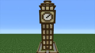 Minecraft Tutorial: How To Make A Clock Tower House