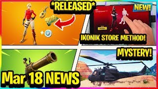 *NEW* IKONIK SKIN STORE METHOD, STARTER PACK 6 RELEASED, HELICOPTER MYSTERY, etc! | Fortnite News