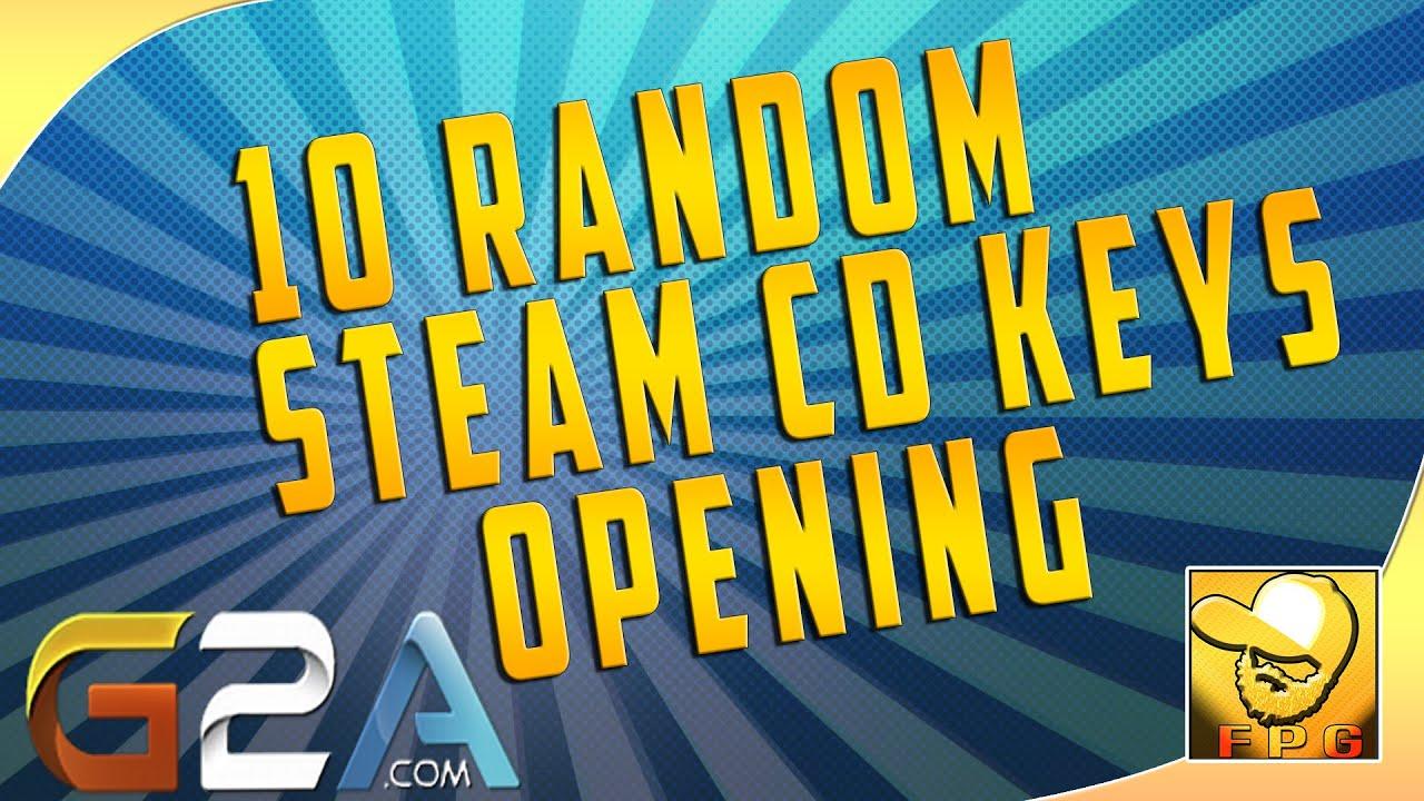 10 Random Steam CD Keys Opening (G2A.com) - YouTube