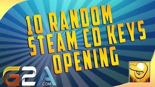 10 Random Steam CD Keys Opening  (G2A.com)