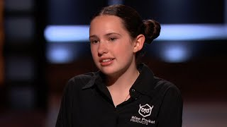 A 13-Year-Old Entrepreneur Counters Two Sharks - Shark Tank