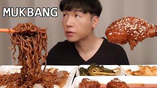 MUKBANG 트러플 짜파게티 & 양념 치킨먹방! TR…