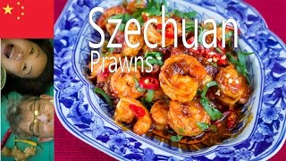 How To Make Szechuan Prawn (spicy Food Help Burn Fat Faster)กุ้งเสฉวนcamarones//사천 새우/四川エビ/四川虾