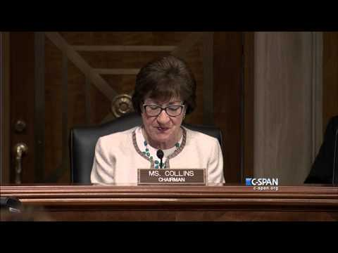 Senator Susan Collins demonstrates Phone Scams (C-SPAN)