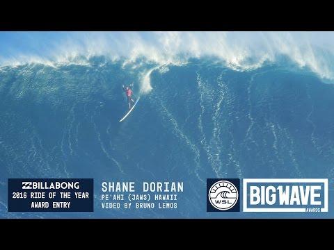 Shane Dorian at Jaws 1 - 2016 Billabong Ride of the Year Entry - WSL Big Wave Awards