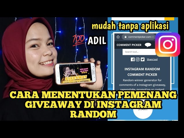 Cara Menentukan Pemenang Giveaway Instagram Random Tanpa Aplikasi Mudah Dan Simple Youtube
