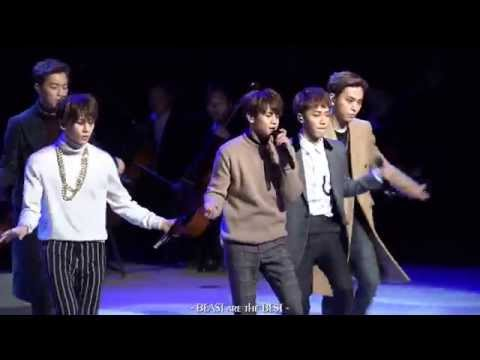 [Fancam] BEAST 141127 - 12:30, mainly Junhyung focus (Ministry of National Defense Band)