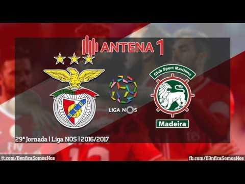 BENFICA 3 - 0 Marítimo | Relato dos golos (Antena 1)
