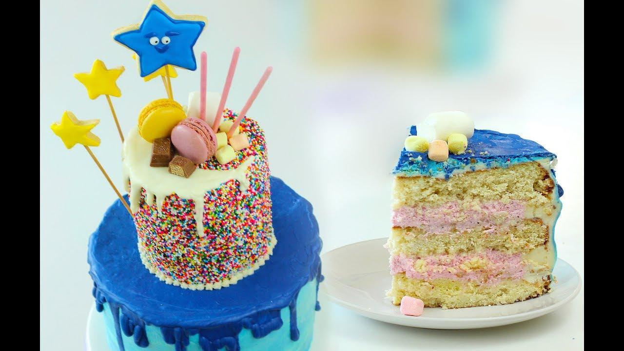 Торт кокосовый с клубничным кремом на День Рождения. Как ...