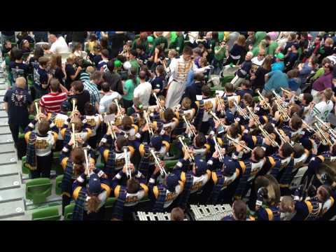 Notre Dame Touchdown and Marching Band celebration @ Aviva Stadium Dublin