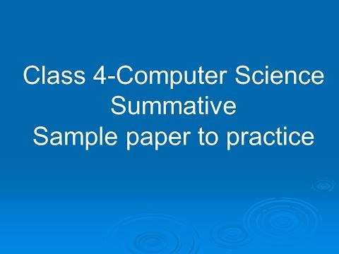 NCERT-Class 4-Computer science-Summative-Sample paper