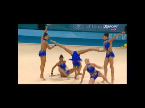 USA Senior Group - 10 Clubs - Prelims - Kiev 2013 Rhythmic World Championships