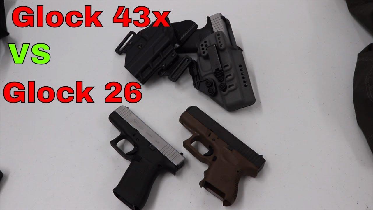 Size Comparison: Glock 43X vs Glock 26