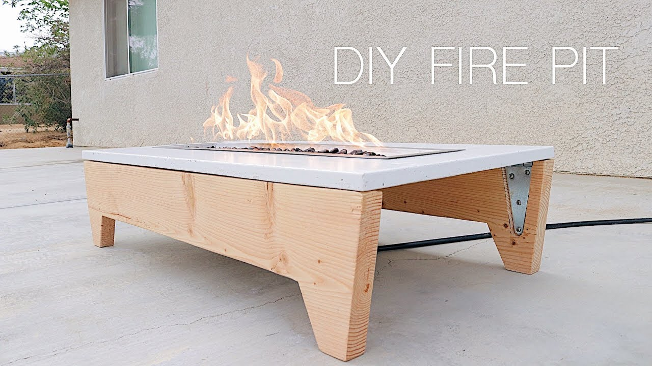 DIY Portable Concrete Fire Pit | Modern Builds - YouTube