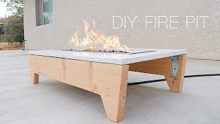 DIY Portable Concrete Fire Pit | Modern Builds