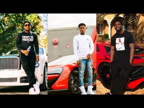 Rappers Showing Off Their Expensive Cars, Jewelry and Money
