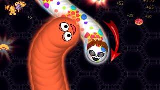 Wormate.io Tiny Troll Hacker Worm Vs Biggest Worm Pro Wormateio Gameplay! (Funny/ Best Moments)