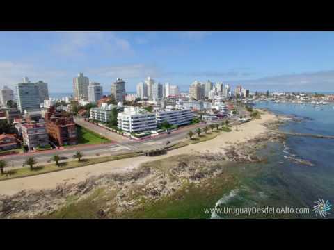 Playa Mansa, Península de Punta del Este, Uruguay desde lo alto