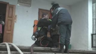 Пожар в общежитии по ул. Руссиянова 11.02.2017