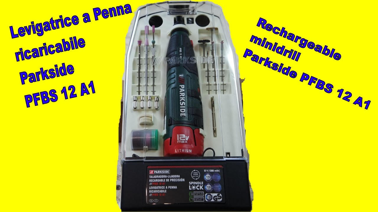 unboxing levigatrice a penna parkside pfbs 12 a1 unpacking