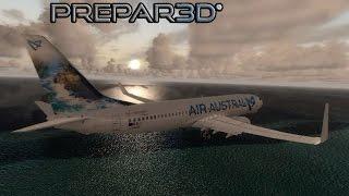 prepar3d v3 2 boeing 737 landing in maldives vrmm hd 60fps