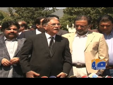 PPP Leaders Nayyar bukhari and Qamar Zaman Kaira Talks to Media