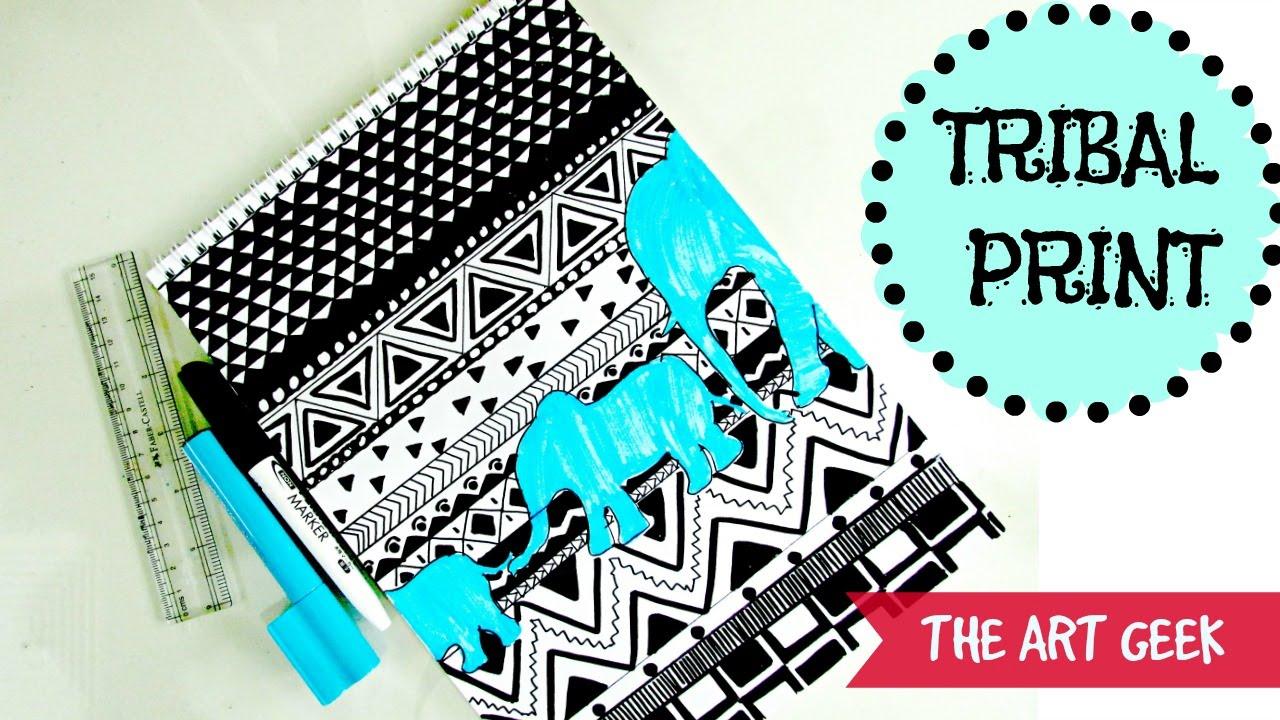TRIBAL PRINT PA... Tribal Print Pattern Black And White