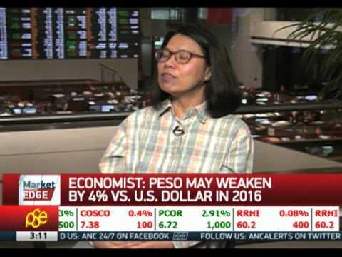 Peso seen to weaken by 4 pct vs US dollar in 2016