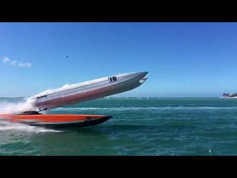 Super Boat Crashes During Race in Key West