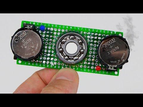 видео: Необычный скоростной led СПИННЕР  / С батарейками/an unusual speedy led spinner light with batteries