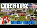 FARMING SIMULATOR 2017 | GOING BOATING AT THE LAKE HOUSE + FIREWORKS | NEW MAP!