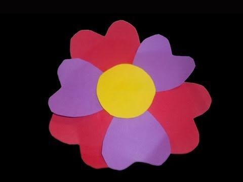 C mo hacer una tarjeta de flor con petalos de corazones - Como hacer farolillos de feria ...