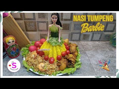 cara-membuat-nasi-tumpeng-barbie-👸-|-ide-ulang-tahun-anak🎉