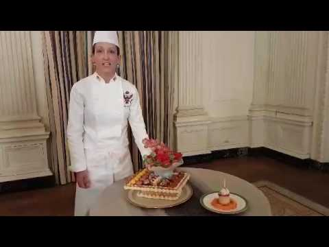 White House Executive Pastry Chef Susie Morrison Introduces The Desserts For The Evening