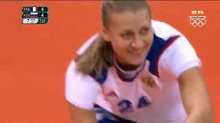 Олимпиада 2016 Рио Гандбол Женщины группа Б 2 тур Франция Россия 08 08 2016